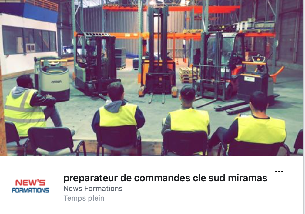 preparateur de commandes cle sud miramas News Formations